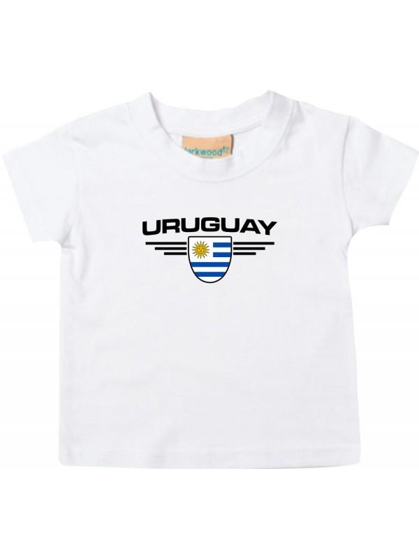 Lady T-Shirt Fussballshirt Uruguay Länder Land