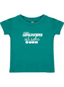 Kinder T-Shirt  mein Geduldsfaden ist sehr dünn,  0-48 Monate