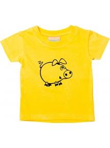 Kinder T-Shirt  Funny Tiere Schweinchen Schwein Ferkel