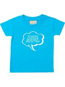 Kinder T-Shirt Sprechblase schon wieder Montag