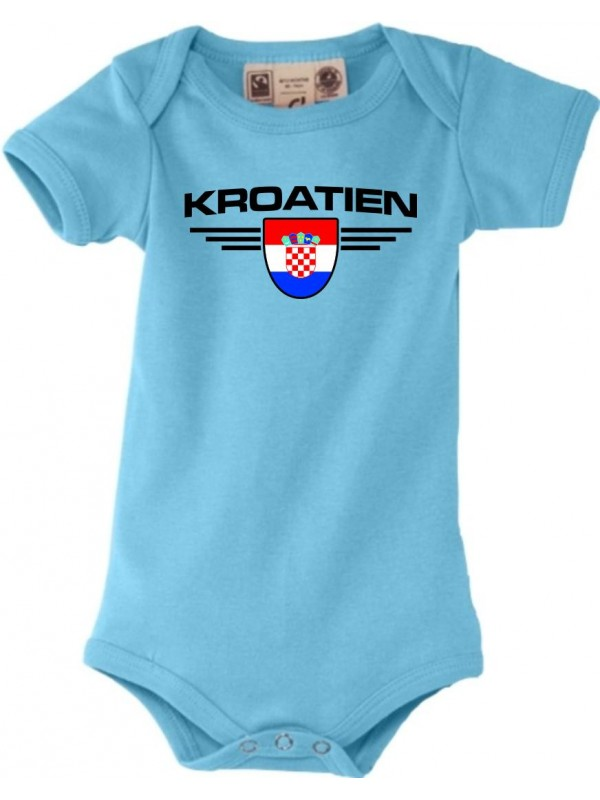 Baby Kinder-Shirt Kroatien Land Länder Wappen
