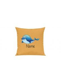 Sofa Kissen mit tollem Motiv Delfin inkl Ihrem Wunschnamen