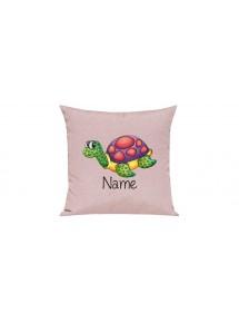 Sofa Kissen mit tollem Motiv Schildkröte inkl Ihrem Wunschnamen