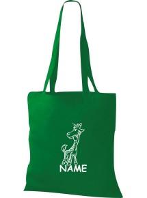 Stoffbeutel lustige Tiere mit Wunschnamen Einhorngiraffe, Einhorn, Giraffe