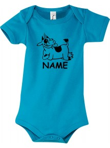Baby Body lustige Tiere mit Wunschnamen Einhornkuh, Einhorn, Kuh