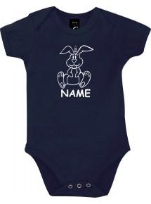 Baby Body lustige Tiere mit Wunschnamen Einhornhase, Einhorn, Hase
