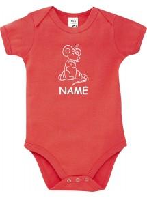 Baby Body lustige Tiere mit Wunschnamen Einhorn Maus , Einhorn, Maus