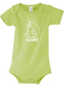 Baby Body lustige Tiere mit Wunschnamen Einhornpinguin, Einhorn, Pinguin