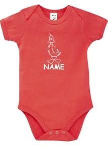 Baby Body lustige Tiere mit Wunschnamen Einhornente, Einhorn, Ente