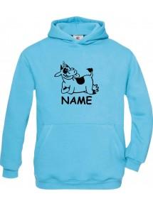 Kinder Hooded lustige Tiere mit Wunschnamen Einhornkuh, Einhorn, Kuh