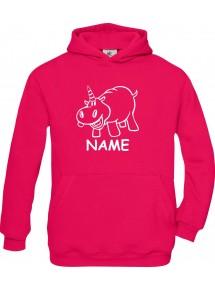 Kinder Hooded lustige Tiere mit Wunschnamen Einhornnilpferd, Einhorn, Nilpferd