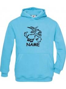 Kinder Hooded lustige Tiere mit Wunschnamen Einhornziege, Einhorn, Ziege