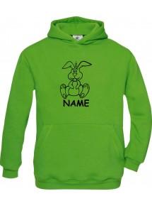 Kinder Hooded lustige Tiere mit Wunschnamen Einhornhase, Einhorn, Hase