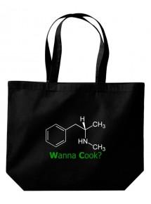 Wanna Cook® große Einkaufstasche, Shopper Wanna Cook Srukturformel