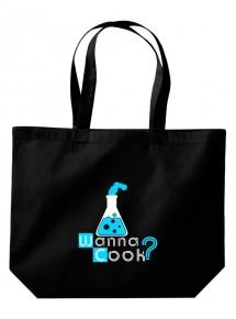 Wanna Cook® große Einkaufstasche, Shopper Wanna Cook Reagenzglas Test Tube