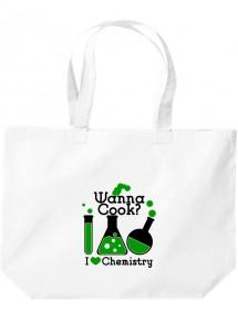 Wanna Cook® große Einkaufstasche, Shopper Wanna Cook Reagenzglas I love Chemistry