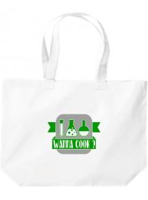 Wanna Cook® große Einkaufstasche, Shopper Wanna Cook Reagenzglas