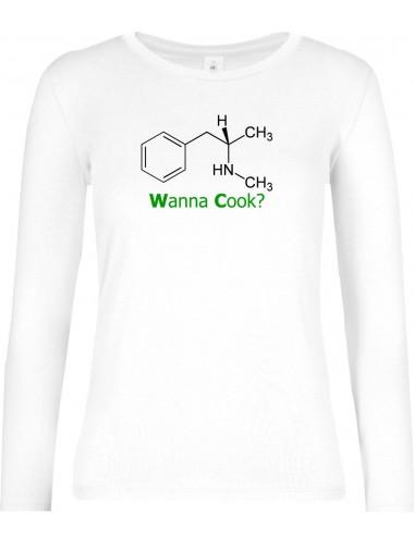 Wanna Cook® Lady-Longshirt Wanna Cook Srukturformel