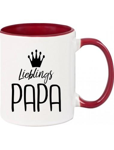 Kaffeepott Lieblings Papa , burgundy