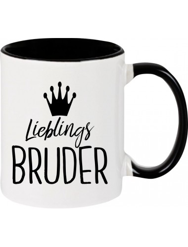 Kaffeepott Lieblings Bruder , schwarz