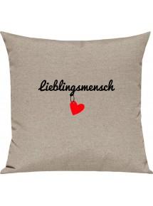 Sofa Kissen Lieblingsmensch Herz hängend