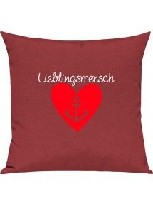 Sofa Kissen Anker Lieblingsmensch