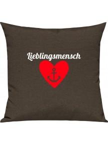 Sofa Kissen Herz Anker Lieblingsmensch