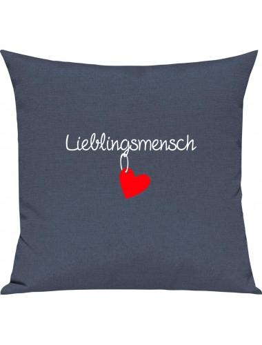 Sofa Kissen zum relaxen Lieblingsmensch , Farbe blau