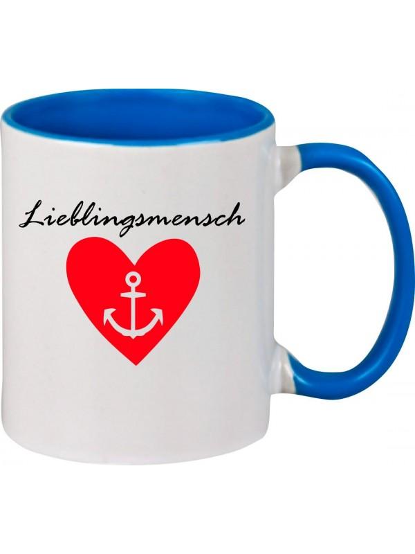 Kaffeepott Partnergeschenk Lieblingsmensch Anker , royal