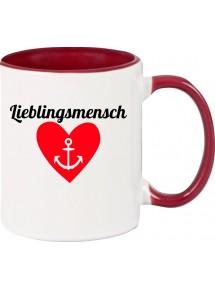 Kaffeepott Herz Anker Lieblingsmensch
