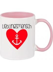 Kaffeepott Liebe Herz Anker Lieblingsmensch