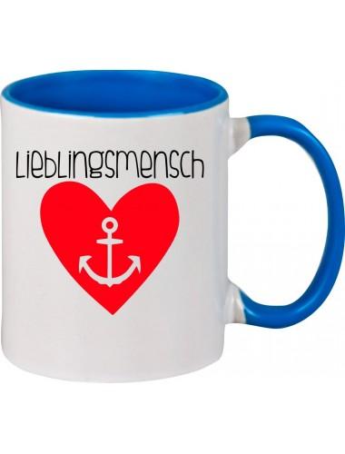 Kaffeepott Liebe Herz Anker Lieblingsmensch , royal
