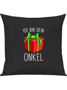 Kinder Kissen, Ich bin dein Geschenk Onkel Weihnachten Geburtstag, Kuschelkissen Couch Deko,