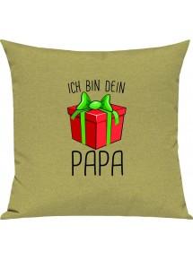 Kinder Kissen, Ich bin dein Geschenk Papa Weihnachten Geburtstag, Kuschelkissen Couch Deko,