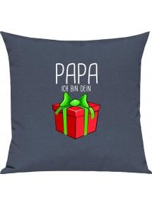 Kinder Kissen, Papa ich bin dein Geschenk Weihnachten Geburtstag, Kuschelkissen Couch Deko,