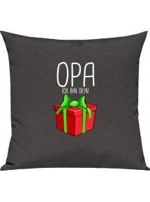 Kinder Kissen, Opa ich bin dein Geschenk Weihnachten Geburtstag, Kuschelkissen Couch Deko,