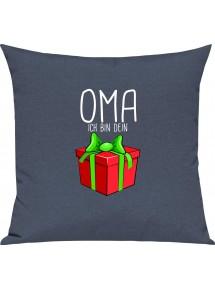 Kinder Kissen, Oma ich bin dein Geschenk Weihnachten Geburtstag, Kuschelkissen Couch Deko,