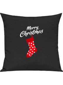 Kinder Kissen, Merry Christmas Weihnachtssocke Frohe Weihnachten, Kuschelkissen Couch Deko,