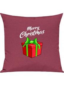 Kinder Kissen, Merry Christmas Geschenk Frohe Weihnachten, Kuschelkissen Couch Deko,