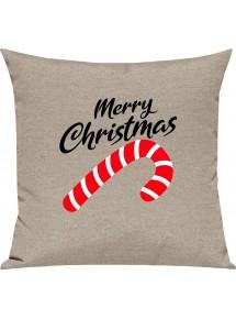 Kinder Kissen, Merry Christmas Zuckerstange Frohe Weihnachten, Kuschelkissen Couch Deko,