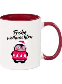 Kindertasse Tasse, Frohe Weihnachten Pinguin Merry Christmas, Tasse Kaffee Tee