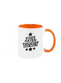 Kaffeepott beidseitig mit Motiv bedruckt beste Patentochter der Welt