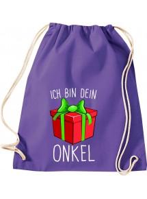 Kinder Gymsack, Ich bin dein Geschenk Onkel Weihnachten Geburtstag, Gym Sportbeutel,