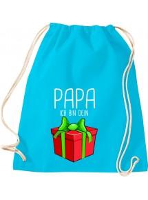 Kinder Gymsack, Papa ich bin dein Geschenk Weihnachten Geburtstag, Gym Sportbeutel,