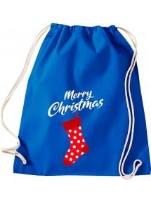 Kinder Gymsack, Merry Christmas Weihnachtssocke Frohe Weihnachten, Gym Sportbeutel,