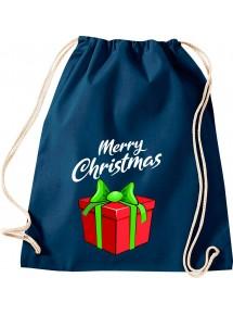 Kinder Gymsack, Merry Christmas Geschenk Frohe Weihnachten, Gym Sportbeutel,