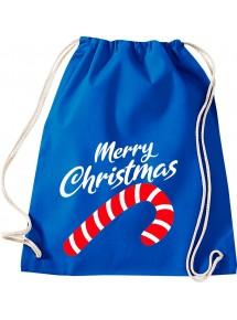 Kinder Gymsack, Merry Christmas Zuckerstange Frohe Weihnachten, Gym Sportbeutel,