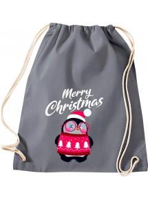Kinder Gymsack, Merry Christmas Pinguin Frohe Weihnachten, Gym Sportbeutel,