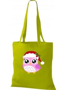 Kinder Tasche, Eule Owl Weihnachten Christmas Winter Schnee Tiere Tier Natur, Tasche Beutel Shopper