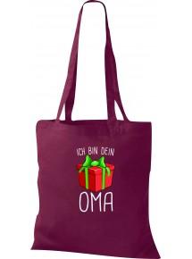 Kinder Tasche, Ich bin dein Geschenk Oma Weihnachten Geburtstag, Tasche Beutel Shopper